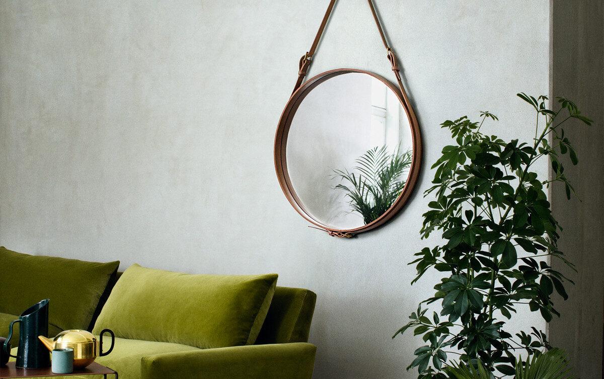 5 Flotte Runde Spejle Med Laederrem Perfekte Til Rustik Nordisk Stil